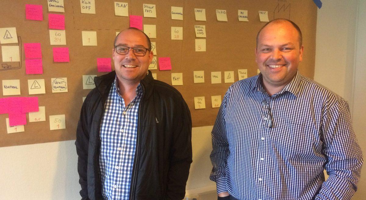 Managing Director Gisle Ødemotland (t.h.) og Production Manager Lars Kåre Ødemotland (t.v.)